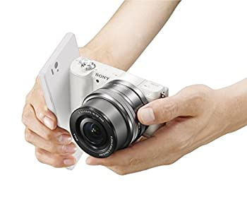Sony A5100 16-50mm Mirrorless Digital Camera With 3-inch Flip Up Lcd (White) 16