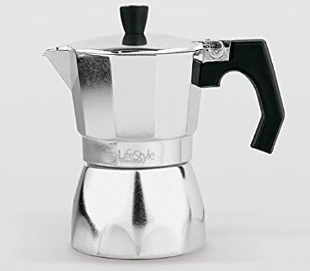 Lifestyle - Cafetera Aluminio la Italiana - 3 Tazas: Amazon.es: Hogar