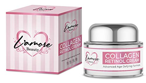 41yeJ0k%2BQSL - L'amore Beauty Collagen Retinol Cream (30mL) Anti-Aging Day and Night Facial | Age Defying Skincare Firms and Lifts Wrinkles, Fine Lines | Hydrating Face, Neck, Décolleté Moisturizer