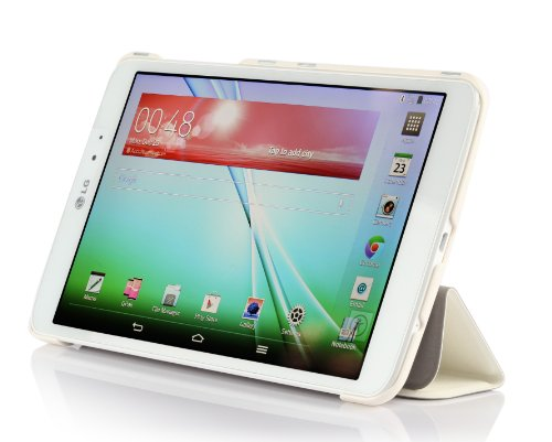 Raydes Silk Pattern Slimline Case for LG G pad V500 8.3inch - Folio Slim Hard Shell Stand Case Cover - - V500 G Pad Lg