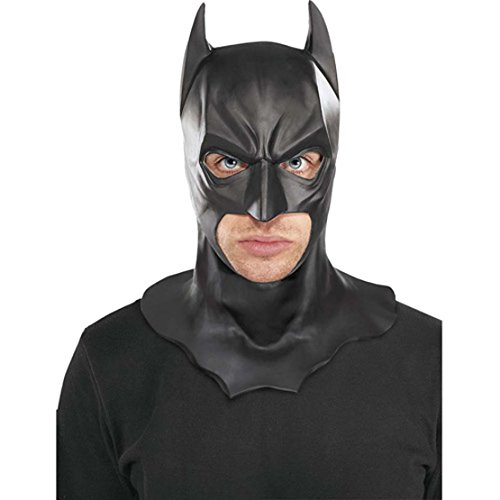Knight Costumes Mask (Batman The Dark Knight Rises Full Batman Mask, Black, One Size)