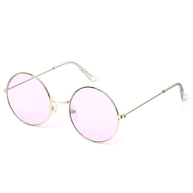 DERTILP Gafas de sol Gafas redondas retro gafas de sol mujer ...