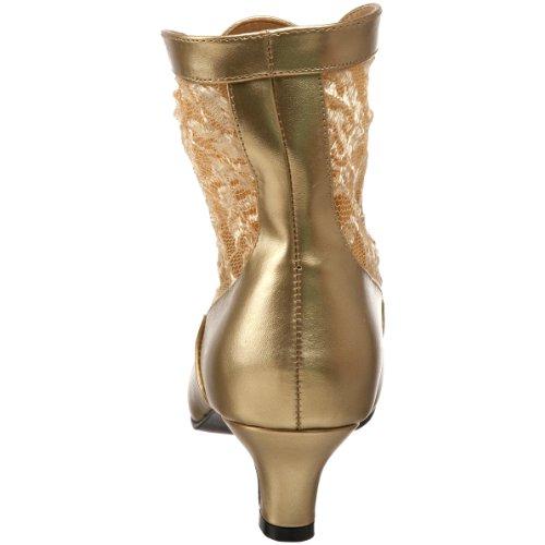 05 Dell'oro Poliuretano Donne Pleaser Delle Taglio Caviglia Funtasma Da Dame Axw77F