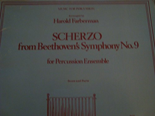 Scherzo From Beethoven's Symphony No. 9 / for Percussion Ensemble / Score & Parts
