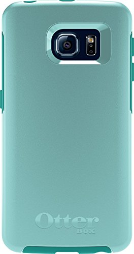 pretty nice b682e a3dfe OtterBox SYMMETRY SERIES Case for Samsung Galaxy S6 EDGE - Retail Packaging  - AQUA SKY (AQUA BLUE/LIGHT TEAL)