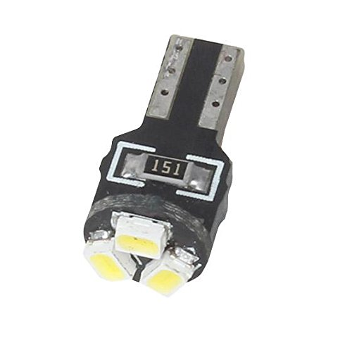White Pack of 10 Partsam T5 Wedge 3-3020-SMD Gauge Cluster LED Light Instrument Panel Indicator Bulb