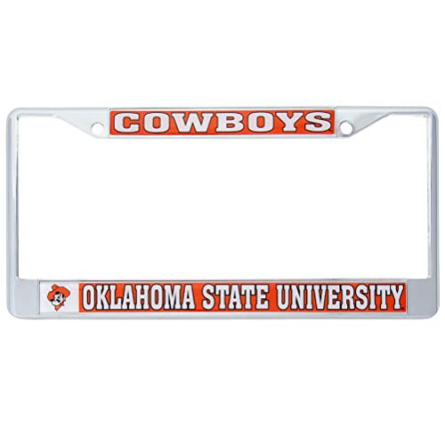 Desert Cactus Oklahoma State University Cowboys Metal License Plate Frame for Front Back of Car Officially Licensed (Mascot)