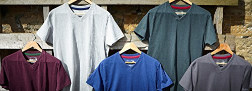 Scollo Melange Mixed Da Wilson T Charles Semplice A shirt V Confezione 5 YqwSOFBT