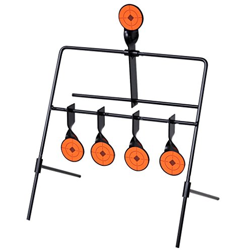Festnight Auto Resetting Shooting Target Steel Frame with 2 Extra Support Legs by Festnight