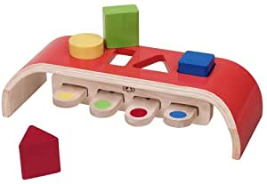 Wonderworld Bouncing Sorter Interactive Color & Shape Discovery Wooden Toy Set
