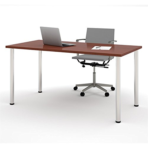 BESTAR Table with Round Metal Legs, 30 x 60