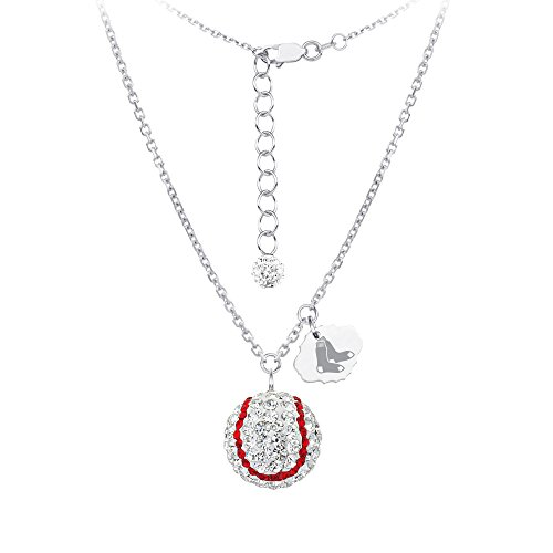 DiamondJewelryNY Silver Pendant, MLB Boston Red Sox Baseball Neck