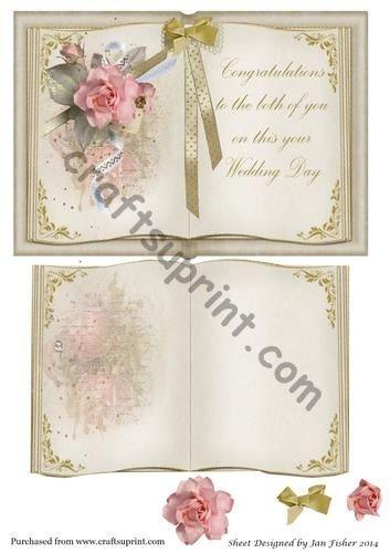 Libro Aperto Per Biglietti Di Auguri Matrimonio Con Inserto