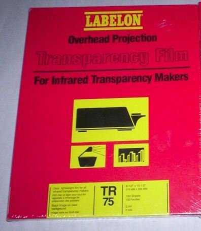 Labelon Overhead Projection Transparency Film for Infrared Transparency Makers