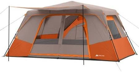 Ozark Trail 11 Person 3 Room 14 x 14 Instant Cabin Tent Orange