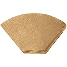 100 Replacements for Unbleached Natural Brown #4 Paper Coffee Filters, Compatible with Large Clever Coffee Maker / Dripper 18 Ounces, by Think Crucial