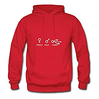 Gender Icons Customized X-large Hoody Women Cotton For Red