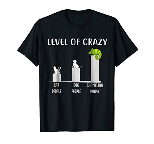Level of Crazy Veiled Chameleon T Shirt, Chameleons Shirt (Reptile Cage Large)