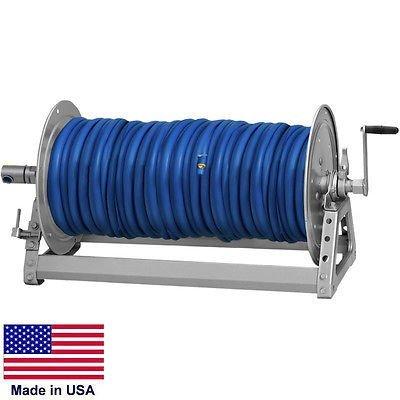 PRESSURE WASHER & SPRAYER Manual Hose Reel - 600 Ft 3/8'' or 475 Ft 1/2'' ID Hose