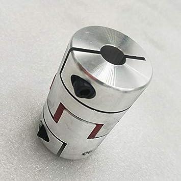 17mm mit Passfedernut 5mm an einem Ende 1pc CNC Flexible Jaw Spinne Plum Kupplung Wellenkupplungen D40 L65mm 14 Gr/ö/ße : 10 14 a Keyway 5mm NO LOGO L-TAO-Pulley