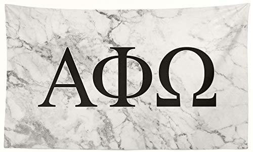 Pro-Graphx Alpha Phi Omega Greek Sorority Flag Display Banner Sign Décor - 3' x 5' - White Marble