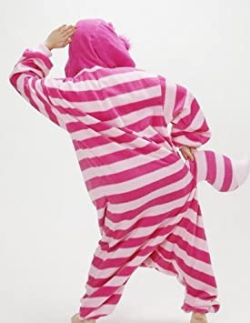53904d6e8 Cheshire Cat Adult Men Women Unisex Animal Sleepsuit Kigurumi Cosplay Costume  Pajamas Outfit Nonopnd Nightclothes Onesies