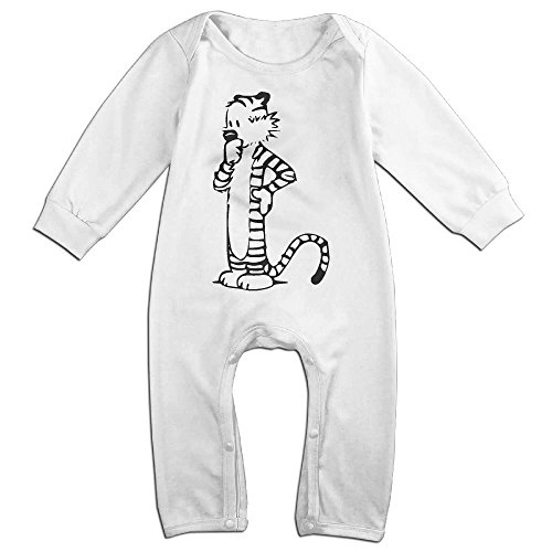 [OLGB Babys Hobbes Long Sleeve Bodysuit Outfits 18 Months] (Calvin And Hobbes Couple Costume)