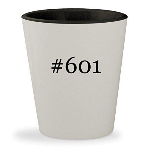 #601 - Hashtag White Outer & Black Inner Ceramic 1.5oz Shot - 601 Rb4147 58