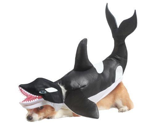 Animal Planet Orca Dog Costume, X-Small, Black/White