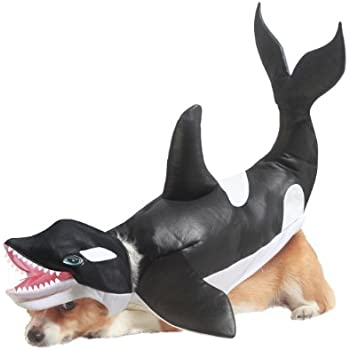 Animal Planet Orca Dog Costume, Small, Black/White