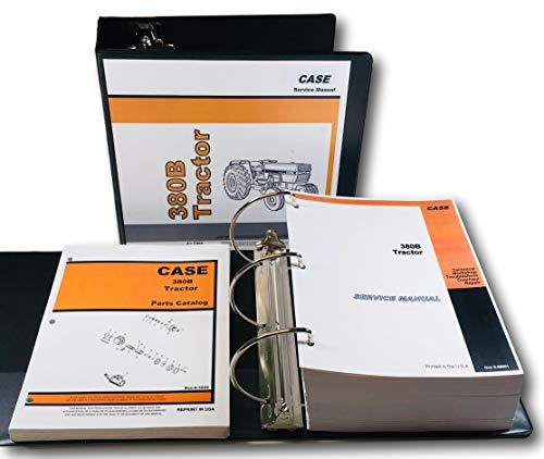 Ih Case 380B Tractor Service Manual Parts Catalog Set Repair Shop Book Ovrhl