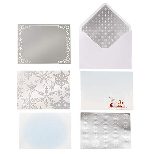 Craft Paper And Card - Martha Stewart 30068355 Paper Snow Card Kit, Multicolor