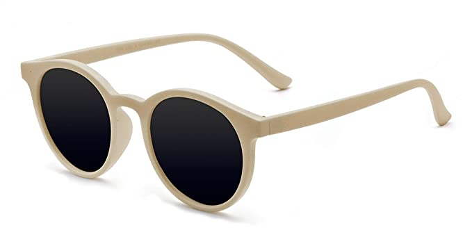 9eacd7261 Kelens Classic Small Round Retro Sunglasses For Women and Men Beige ...