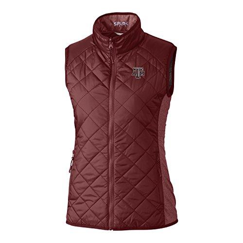 Cutter & Buck NCAA Texas A&M Aggies Womens Light Weight Sandpoint Quilted Vest, Bordeaux, Medium