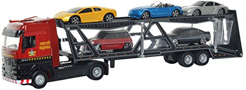 f0ad16e829521 Buy Maisto Truck Line Car Carrier Trailer Die-cast Toy Truck Model (Multi)  Online at Low Prices in India - Amazon.in