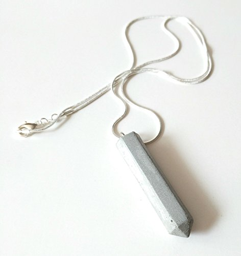 Minimalist Sterling Silver and Cement Necklace Chain