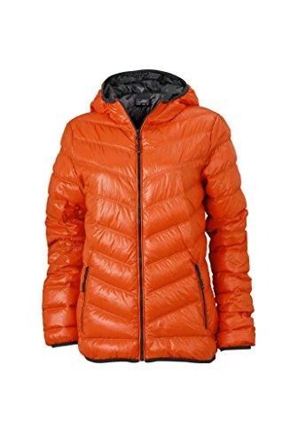 Chaqueta acolchada con capucha Chaqueta pelusa Mujer dark-orange/carbon