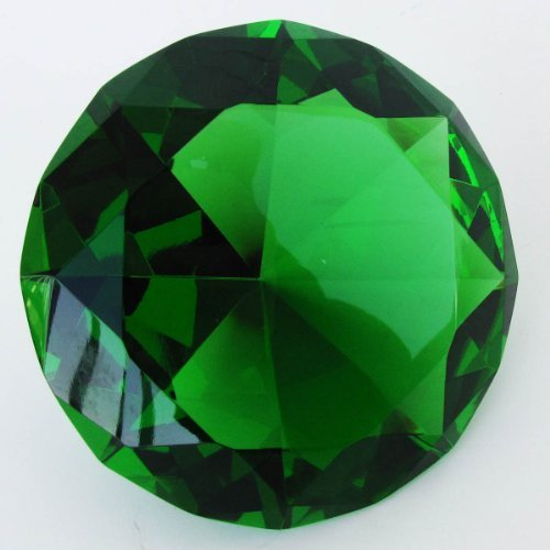 Giant 100 mm Emerald Green Cut Glass Faceted Crystal Diamond (Cut Faceted Glass)