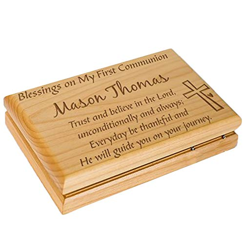 GiftsForYouNow Engraved First Communion Valet Box ()