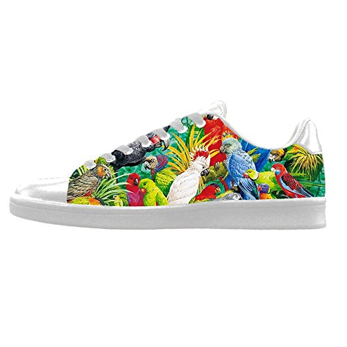 Custom Vogel und Wald Mens Canvas shoes Schuhe Lace-up High-top Sneakers Segeltuchschuhe Leinwand-Schuh-Turnschuhe B