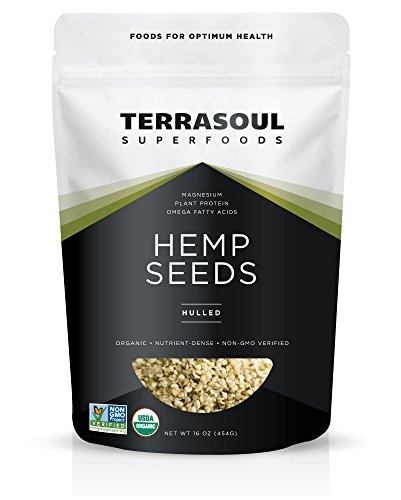 Terrasoul Superfoods Raw Hulled Hemp Seeds (Organic), 16 Ounce