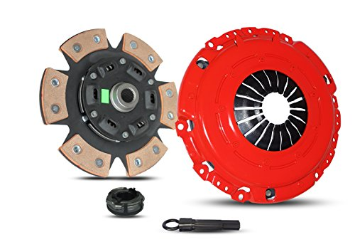 Clutch Kit Works With Golf Gti Jetta Glx Passat Corrado SLC GLX MV GL GTI VR6 CAMPER VAN CL 1992-2002 2.5L l5 2.8L V6 GAS SOHC Naturally Aspirated (6-Puck Disc - Vr6 Glx Passat
