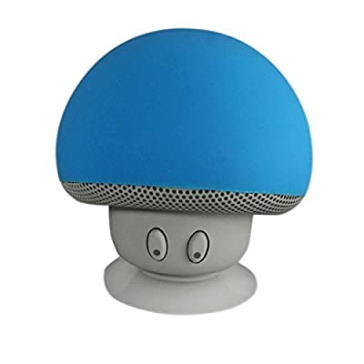 A portable mini cute the mushroom wireless Bluetooth speaker, Internal microphone for the iPhone / ipad / Samsung / HTC / LG / Sony, and Android smart phones (blue)