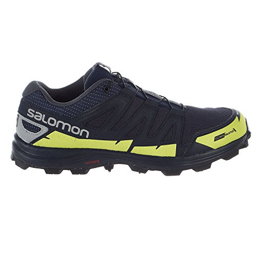 Salomon Speedspike CS Running Shoes - Navy Blazer, Reflective Silver, Lime Punch - Mens - 10 by Salomon (Image #6)