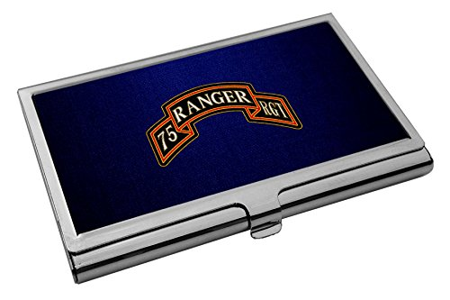 Business Card Holder - US Army 75th Ranger Regiment (Airborne), sevice badge