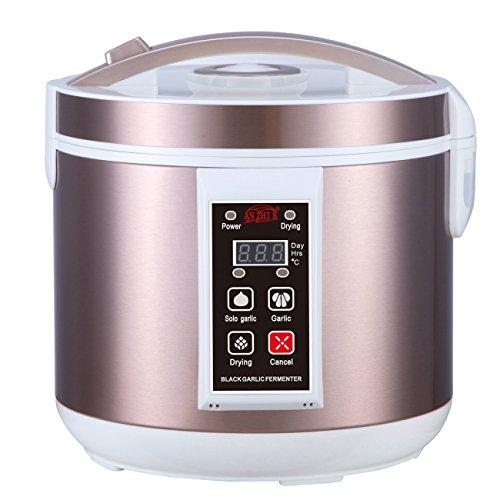 5L Black Garlic Fermenter Full Automatic Intelligent Control Garlics Maker Multiple Clove Garlic DIY Cooker,120V (Door Steel Insert Vented)