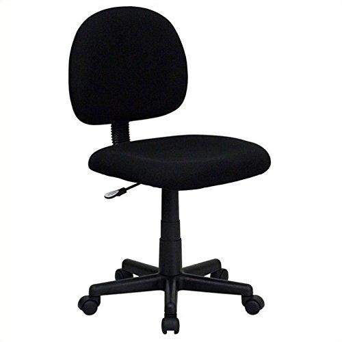 Flash Furniture Mid-Back Black Fabric Swivel Task Chair by Flash Furniture