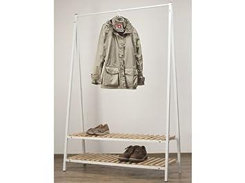 Kleiderständer Weiß Metall kleiderständer metall weiß 2 ablagen massivholz amazon de küche