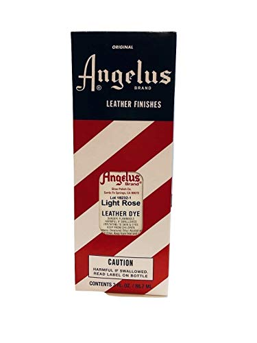 Angelus Brand Leather Dye w/Applicator - 3 oz , Light Rose