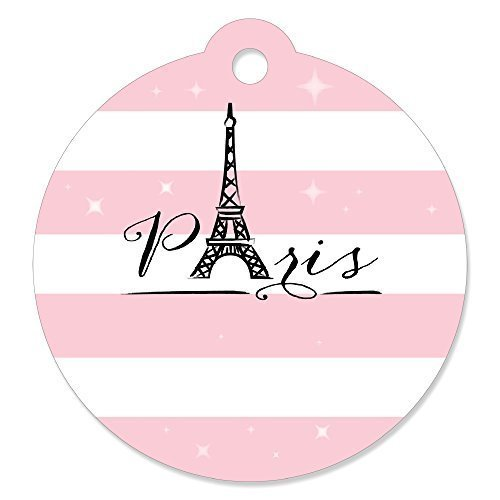 Paris, Ooh La La - Paris Themed Baby Shower or Birthday Party Favor Gift Tags (Set of 20)